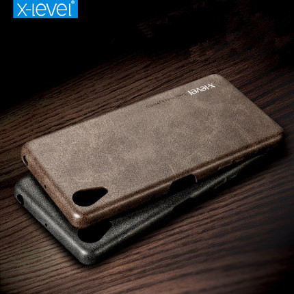 X-Level Vintage Phone Case For Sony Xperia X Performance PU Leather Retro Cases For Sony X Performance Classic Back Cover cases