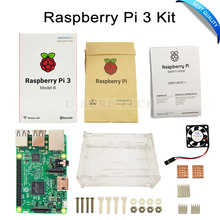 Discount! Raspberry Pi 3 Model B Board with Wifi & Blue + Raspberry pi Case with fan and heat sinks