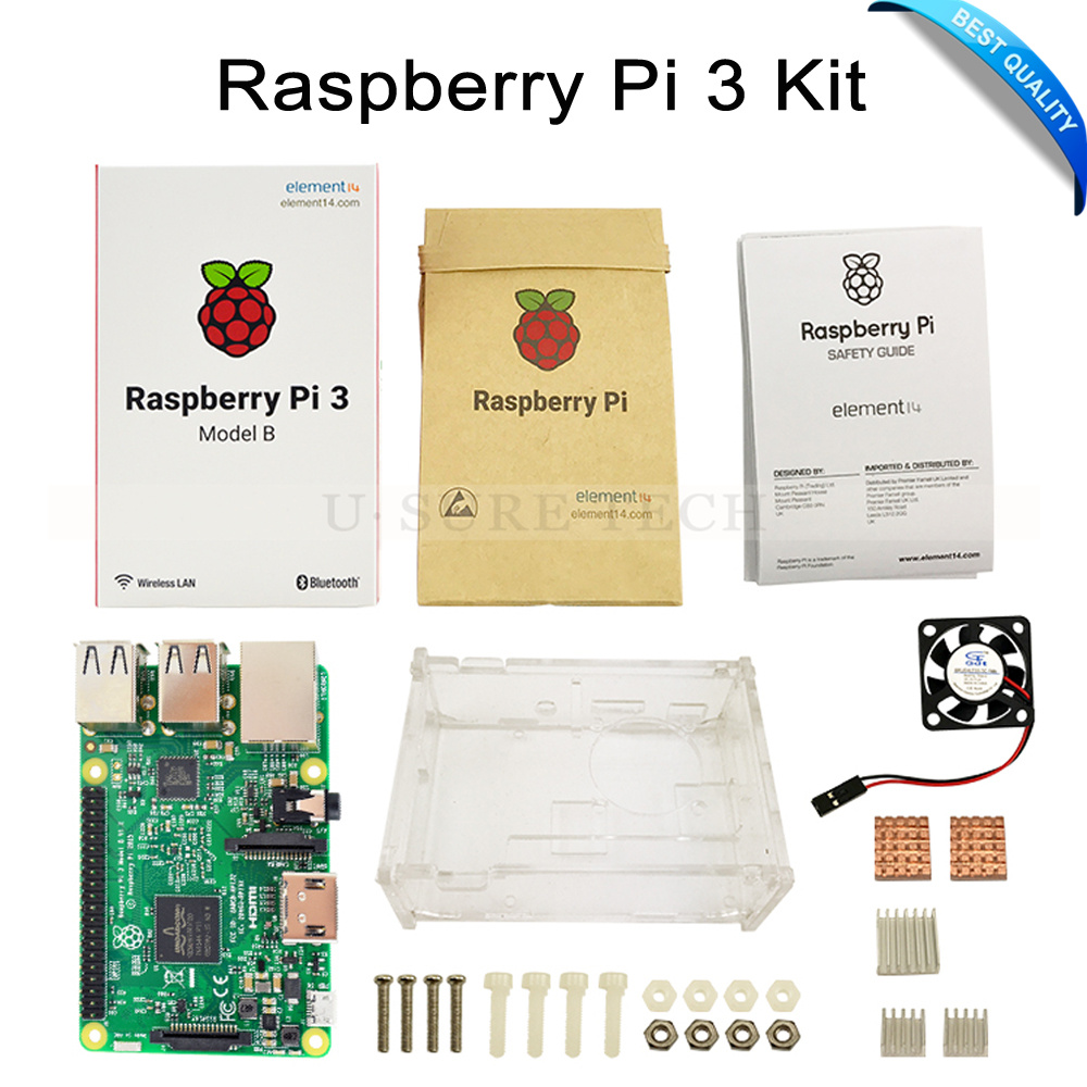 raspberry pi 3 model b board with wifi blue raspberry. Black Bedroom Furniture Sets. Home Design Ideas