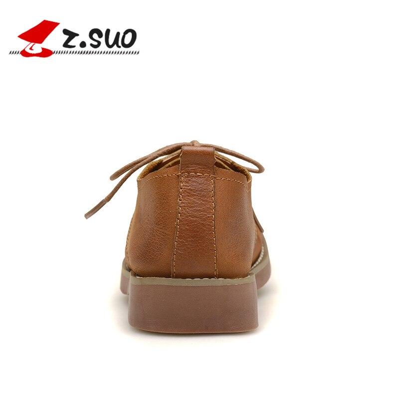 Resistencia Soles Mocasines Señoras Black Z Suo up Encaje Mujer Casual Vaca khaki Cuero Zapatos Al Otoño De Invierno brown Desgaste Transpirable Zs18100n 7Tw4aqZTH