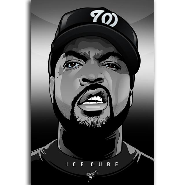 G709 ice cube rap hip hop nwa music album cover star rapper a4 art silk light