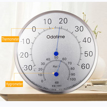 Odatime Stainless Steel Thermometer/Hygrometer Household Temperature Humidity Instrument Home decor For Bedroom Study Room стоимость