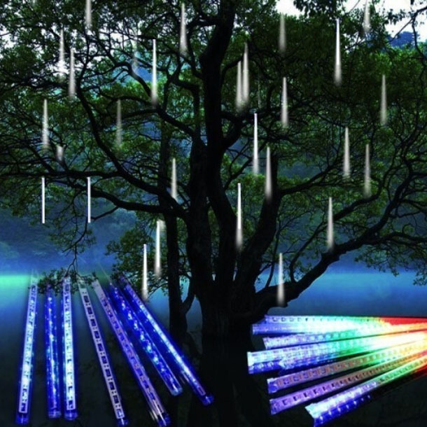 Lighting Of Christmas Tree 2014: 20CM 8pcs/set LED Christmas Lights Outdoor Meteor Shower