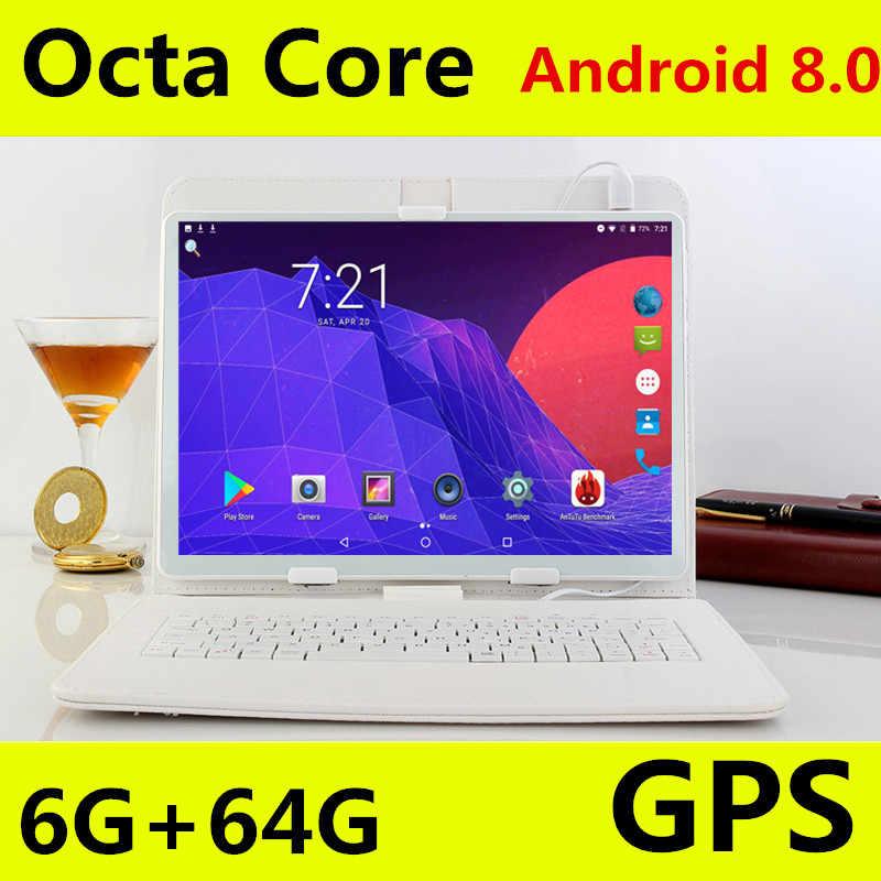 10.1 بوصة اللوحي الروبوت 8.0 لجوجل اللعب الثماني النواة سيم 3G 4G LTE WIFI GPS RAM 6 GB 64 GB اللوحي أقراص