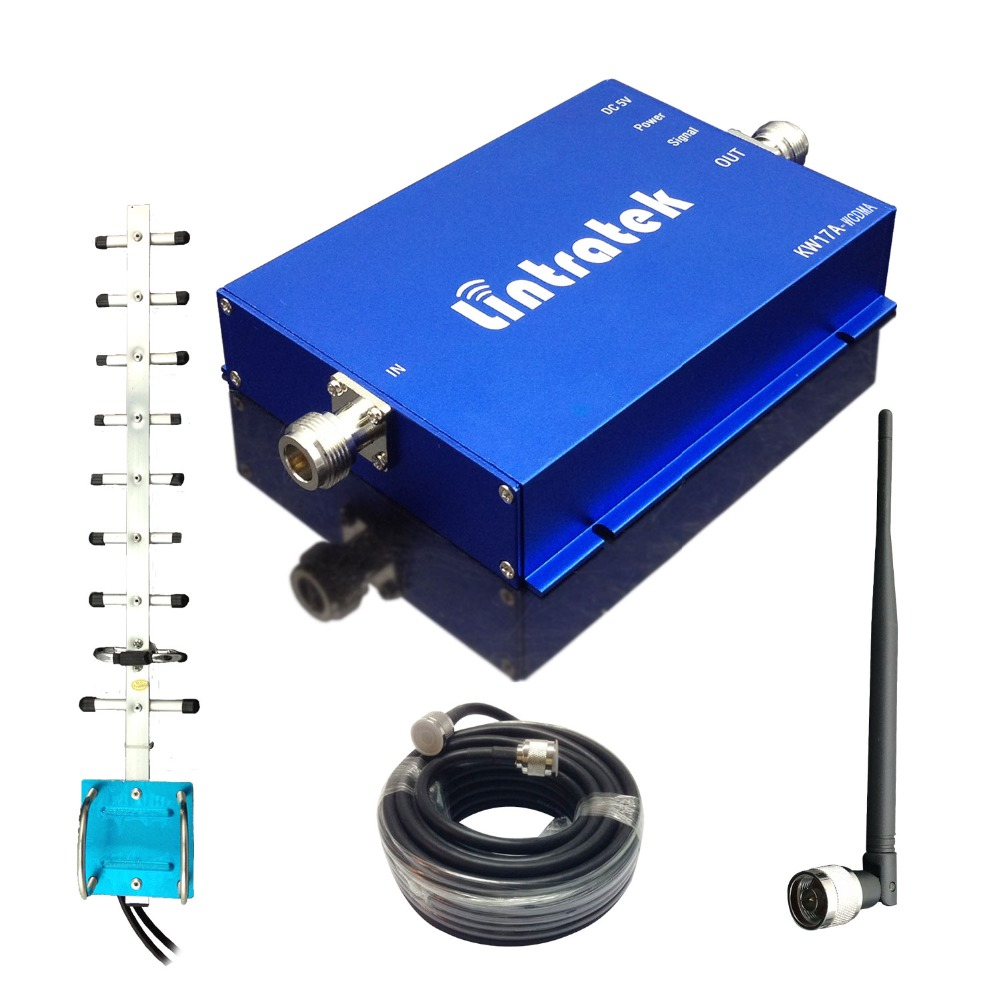 New Repetidor 3G UMTS 2100 mhz 65db Gain 3G Repeater W-CDMA 2100 3G Booster Repeater Yagi Full Kits Free Shipping