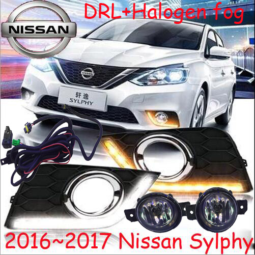 Sylphy daytime light,2015~2017!Free ship!LED,bluebird fog light,2ps/set;Sylphy;bluebird daytime light; Lannia car styling sylphy taillight 2012 2015 free ship 2pcs sylphy fog light sylphy tail lamp chrome car detector bluebird