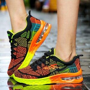 Image 1 - גברים נעליים יומיומיות קל משקל אוויר כרית דירות סניקרס Tenis Masculino Adulto הנעלה זכר נעלי גברים מאמני Chaussure Femme