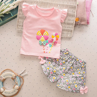 Children S Suit Summer 2017 New Children S Clothing Girls Short Sleeved Shorts Two Piece Suit