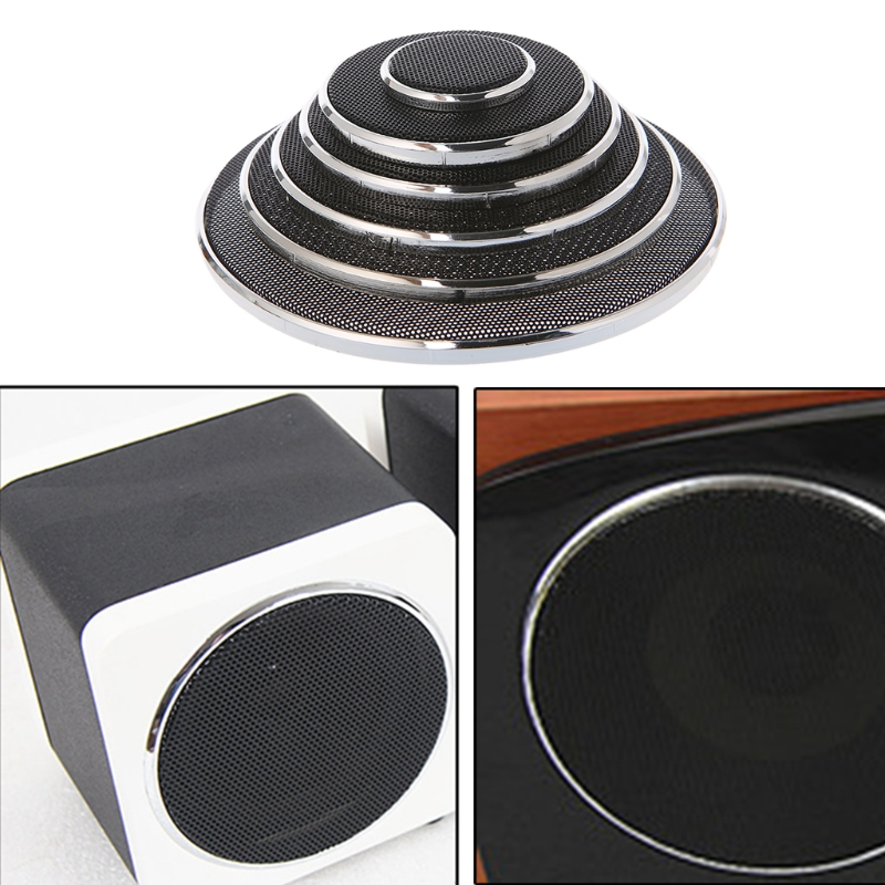 QAIXAG 2 Pcs 1/2/3/4/5/6.5 Inch Speaker Steel Mesh Round Grill Protective Cover Circle