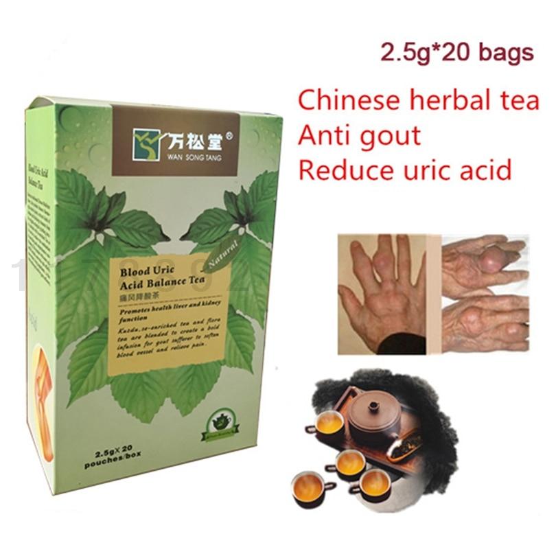 1box=20sachets Gout relief suffers Blood Uric Acid Balance Tea gout to Gout foot tea green medicine tea high quantity medicine detection type blood and marrow test slides