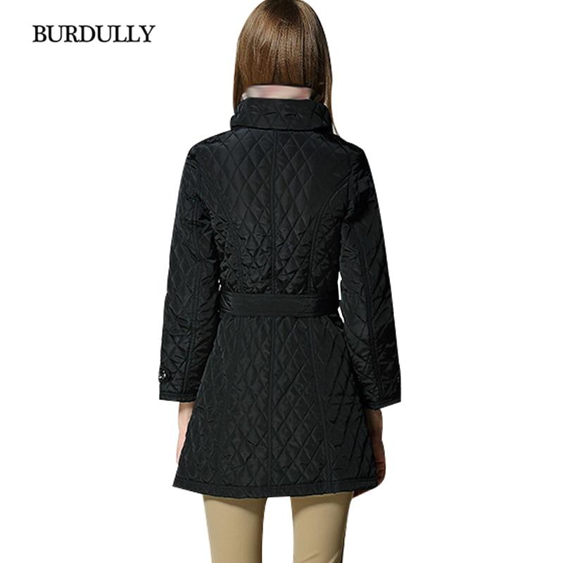 Black Boutonnage Burdully D'hiver Plaid Femmes 2018 khaki Double Femme Survêtement Haute Mujer Manteau Qualité Elegan Veste Invierno Diamant Parka FFgXTr