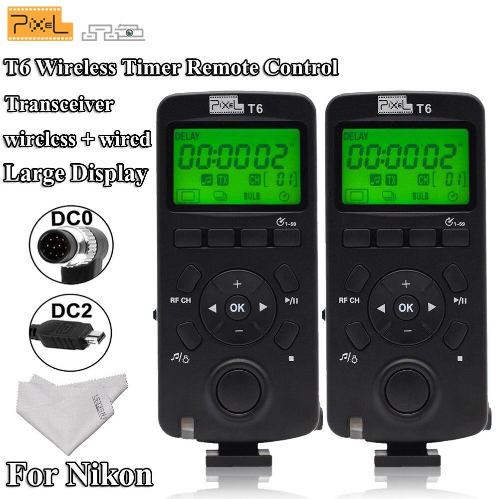 Pour Nikon D7100 D7000 D5000 D3200 D3100 D800S D700 Pixel T6 2.4G émetteur-récepteur sans fil minuterie déclencheur télécommande