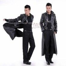 Athemis ソードアートオンラインキリト革コスプレ衣装カスタムメイドジャケットやアクセサリー