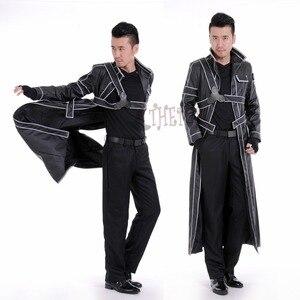 Image 1 - Athemis ソードアートオンラインキリト革コスプレ衣装カスタムメイドジャケットやアクセサリー