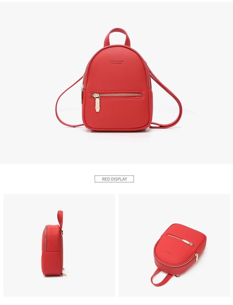 HTB1wz29KkSWBuNjSszdq6zeSpXas WEICHEN New Designer Fashion Women Backpack Mini Soft Touch Multi-Function Small Backpack Female Ladies Shoulder Bag Girl Purse
