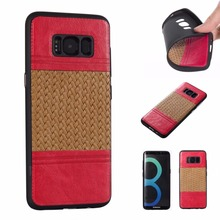 For Samsung Galaxy J7 J510 J5 J3 J310 S8 S7 Edge A3 2017 Case Luxury Weave Pattern Style Soft TPU Material Leather Back Cover