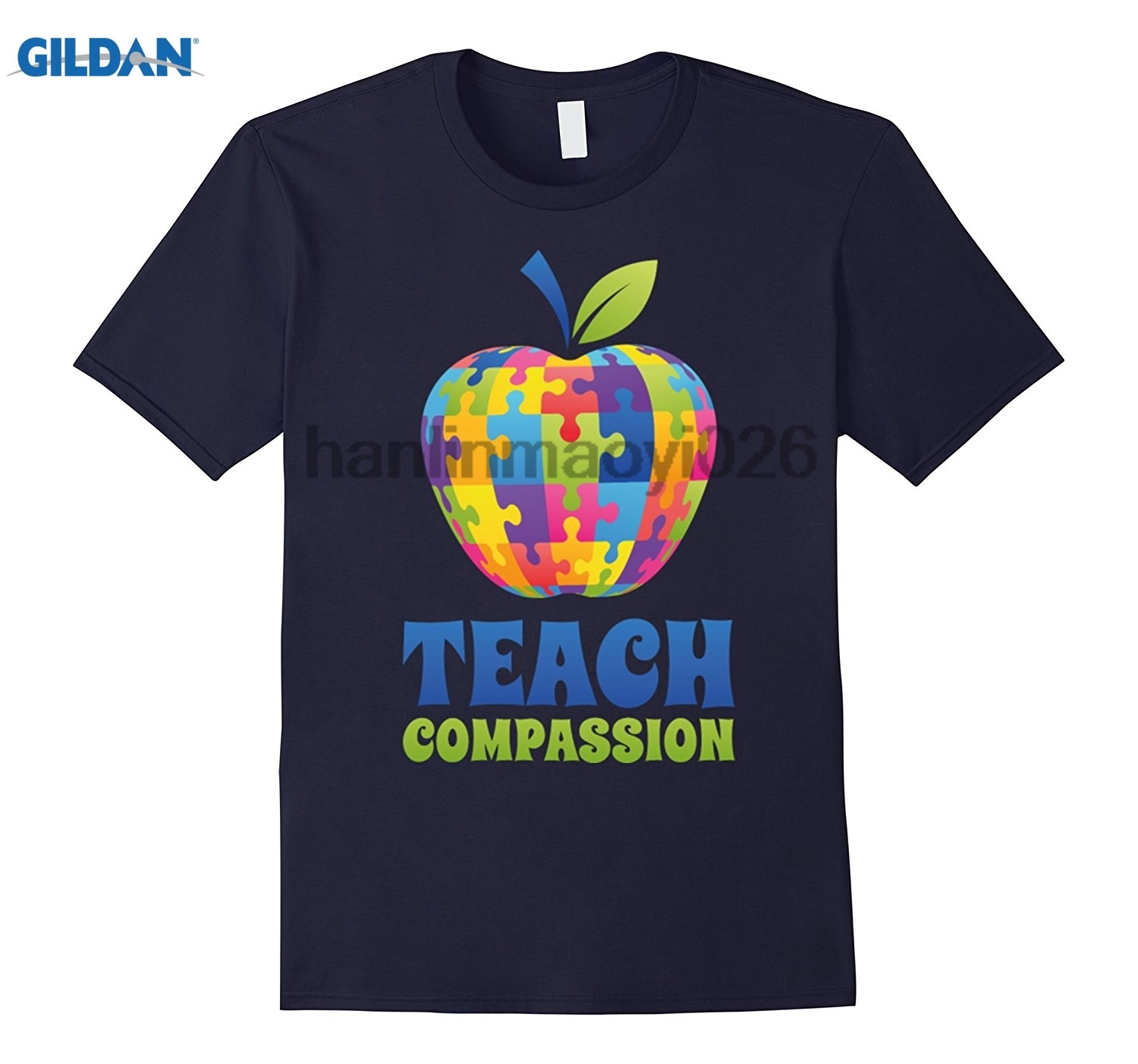 GILDAN Cool Teach Compassion T-Shirt Autism Awareness Day Gifts