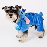 Dog Puppy Clothes Adorable Stitch Pet Dog Clothes Costumes Soft Coat Hoodie 5 Sizes Pet Apparel