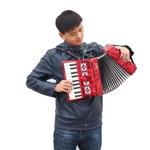 Image 4 - IRIN 22 Key 8 בס אקורדיון פסנתר עם רצועות כפפות ניקוי חינוכיים בד לסטודנטים למתחילים Childern