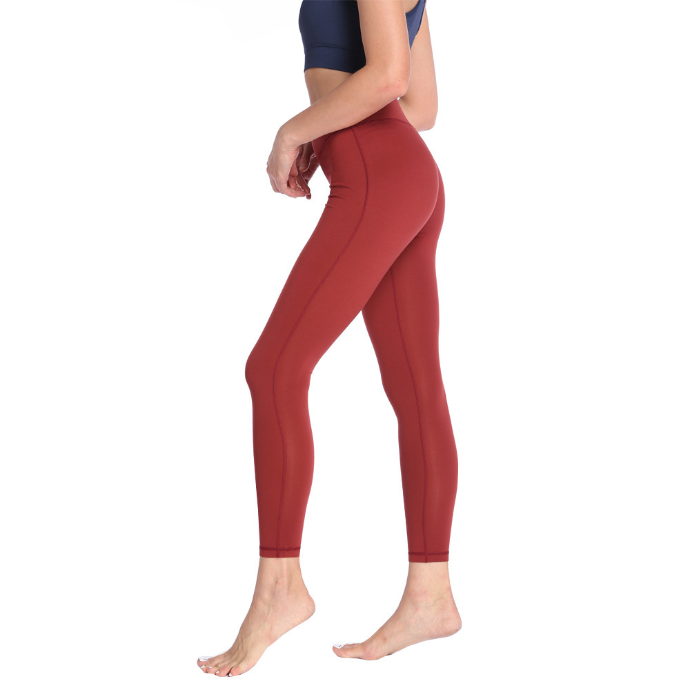 Women Yoga Pants Female Sports Fitness Running Stretch Tights High Waist Breathable Show Thin Leggings