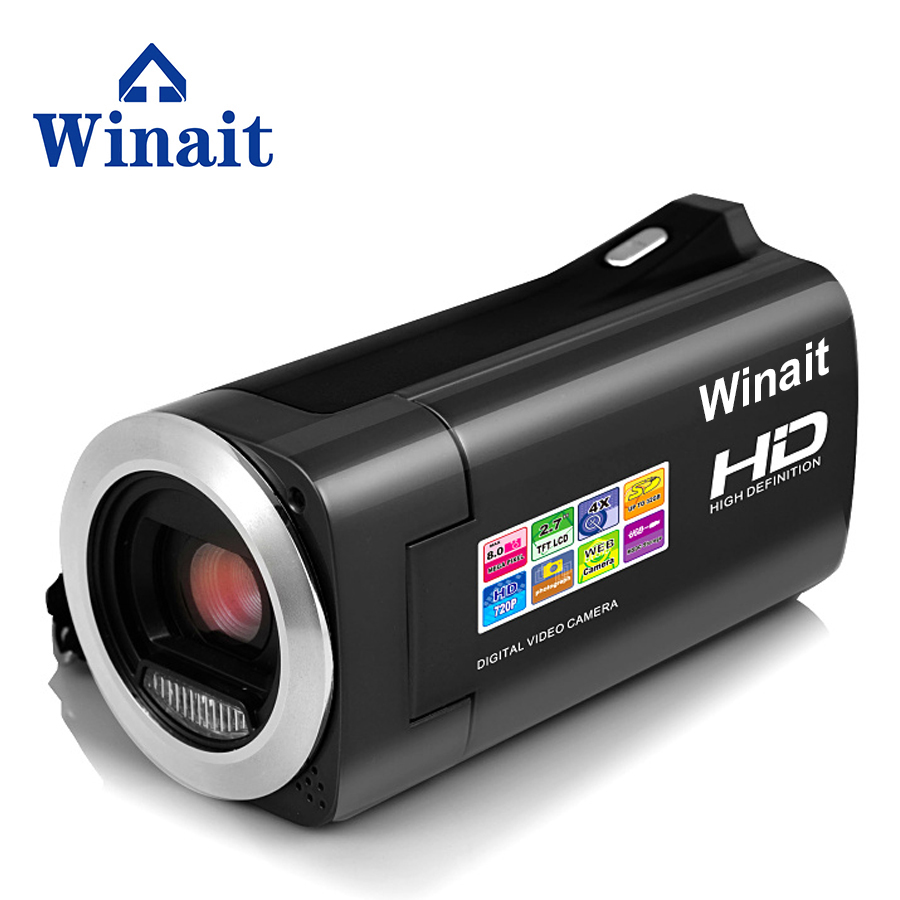цена на Winait Digital Video Camera HD 720P 4X Digital Zoom 2.7 TFT LCD 16MP Camcoder DV Free shipping Wholesale