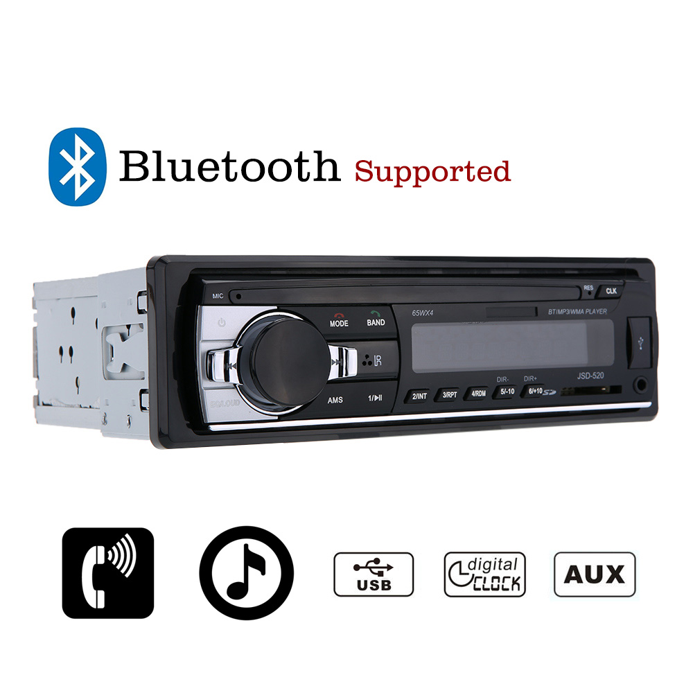 car stereo bluetooth radio audio player receiver in dash. Black Bedroom Furniture Sets. Home Design Ideas