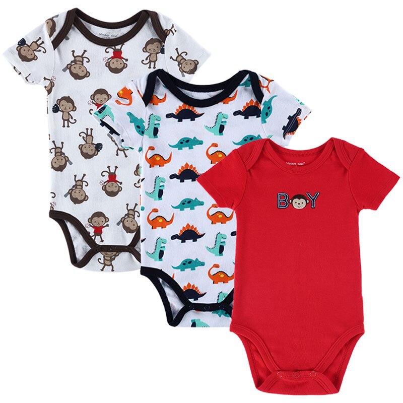 3 PCS / LOT Baby Boy Киім нәресте Romper жиынтығы - Балаларға арналған киім - фото 3