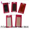 12 pc/pacote queratina Bastões de Cola Hot Melt Glue Sticks 10mm * 7mm Ferramentas de Cabelo Profissionais 5 Cores Para Extensões Do Cabelo Da fusão Da Queratina