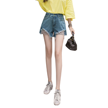 Jeans Shorts Female Xia Han Edition Students Loose Chic Irregular Hole-in Hot  Trend Sexy Casual