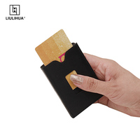 Short Slim Wallet genuine leather men trifold wallet business mini purse Multifunction Credit Card Package Travel ID Holder