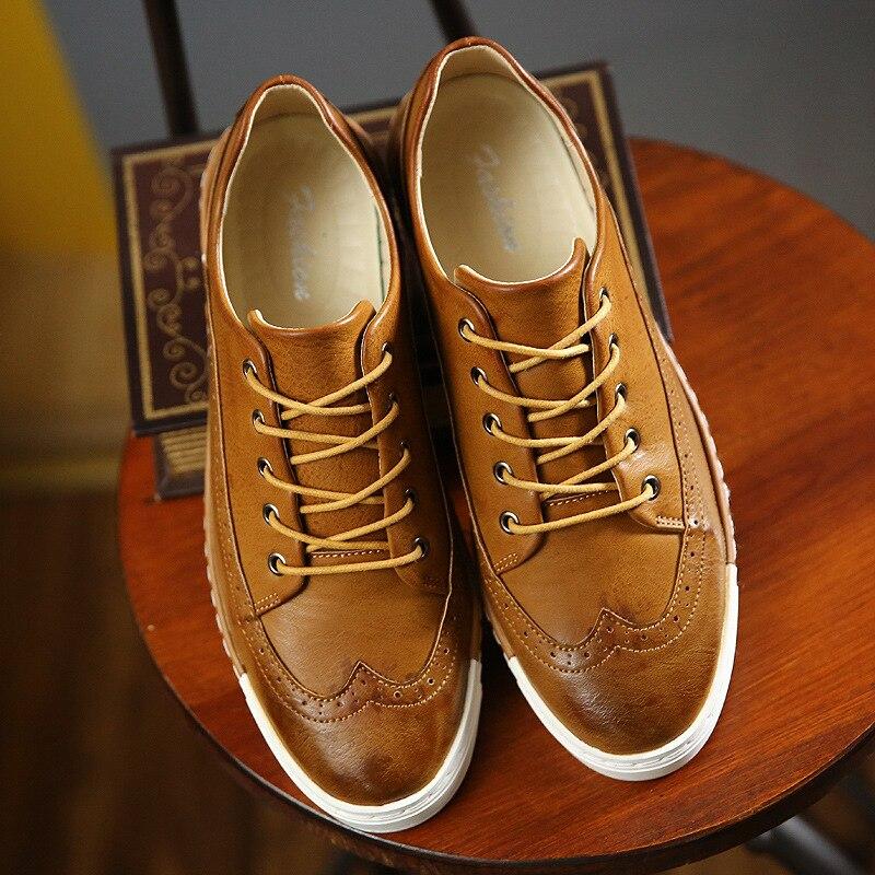 Hombres de la marca de zapatos de Cuero Genuino  Nueva Moda Hombres Zapatos de Alta Calidad de la Marca de Lujo de Los Hombres Zapatos Casuales