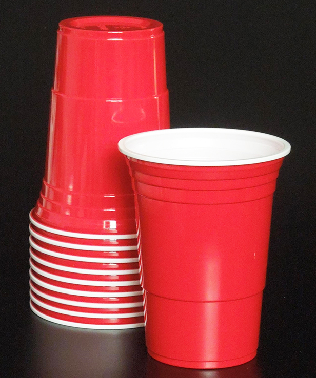 50pcs Solid red/blue Plastic <font><b>Cups</b></font> Insulated Solo <font><b>Cup</b></font> 16oz 50ct <font><b>Disposable</b></font> <font><b>Beer</b></font> party Bar Tea shop <font><b>cup</b></font> Drinking <font><b>Cup</b></font> image