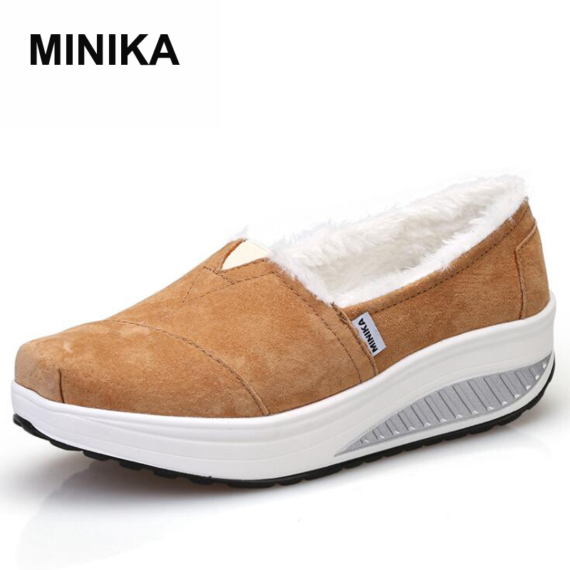 Women flats 2017 autumn winter casual shoes slip-on zapatos mujer high quality women genuine leather shoes uexia women winter warm snow shoes casual flats increased shoes woman fur inside comfortable slip on botas zapatos mujer flock