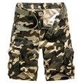 2016 New men summer camouflage cargo shorts bermuda masculina male fashion Multi pocket casual outside baggy men shorts(no belt)