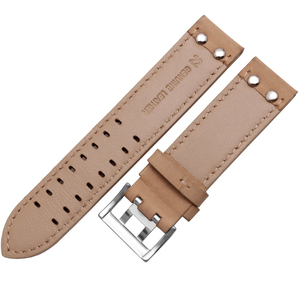 Image 3 - Genuine Leather watchband replacement leather strap Khaki Classic Jazz Seiko watch chain for Hamilton 20mm 22mm
