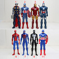 30cm American Movie Anime Super Heros Captain America Ironman Spiderman The First Avenger Superhero PVC Figure Toy