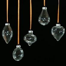 Романтическое дизайнерское Рождественское украшение в виде шара, прозрачное Рождественское украшение, подарок на год
