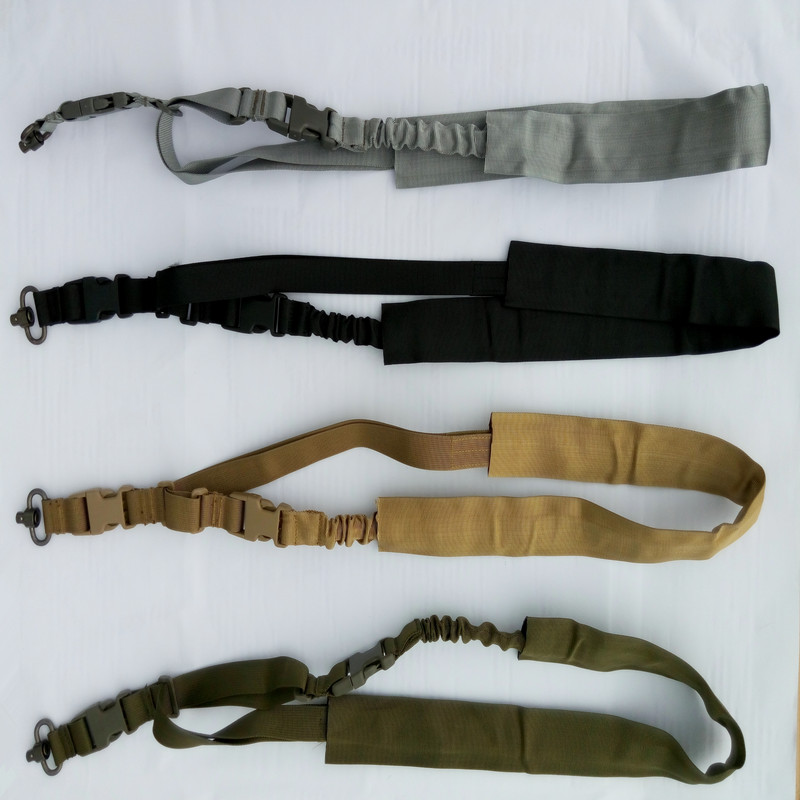 Tactical Single Point QD Bungee Rifle Sling ONE BLACK