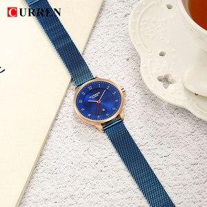 Image 5 - カレン腕時計ブルーゴールドの女性の腕時計アナログクォーツ超薄型ステンレス鋼スポーツ女性防水女性は Saat