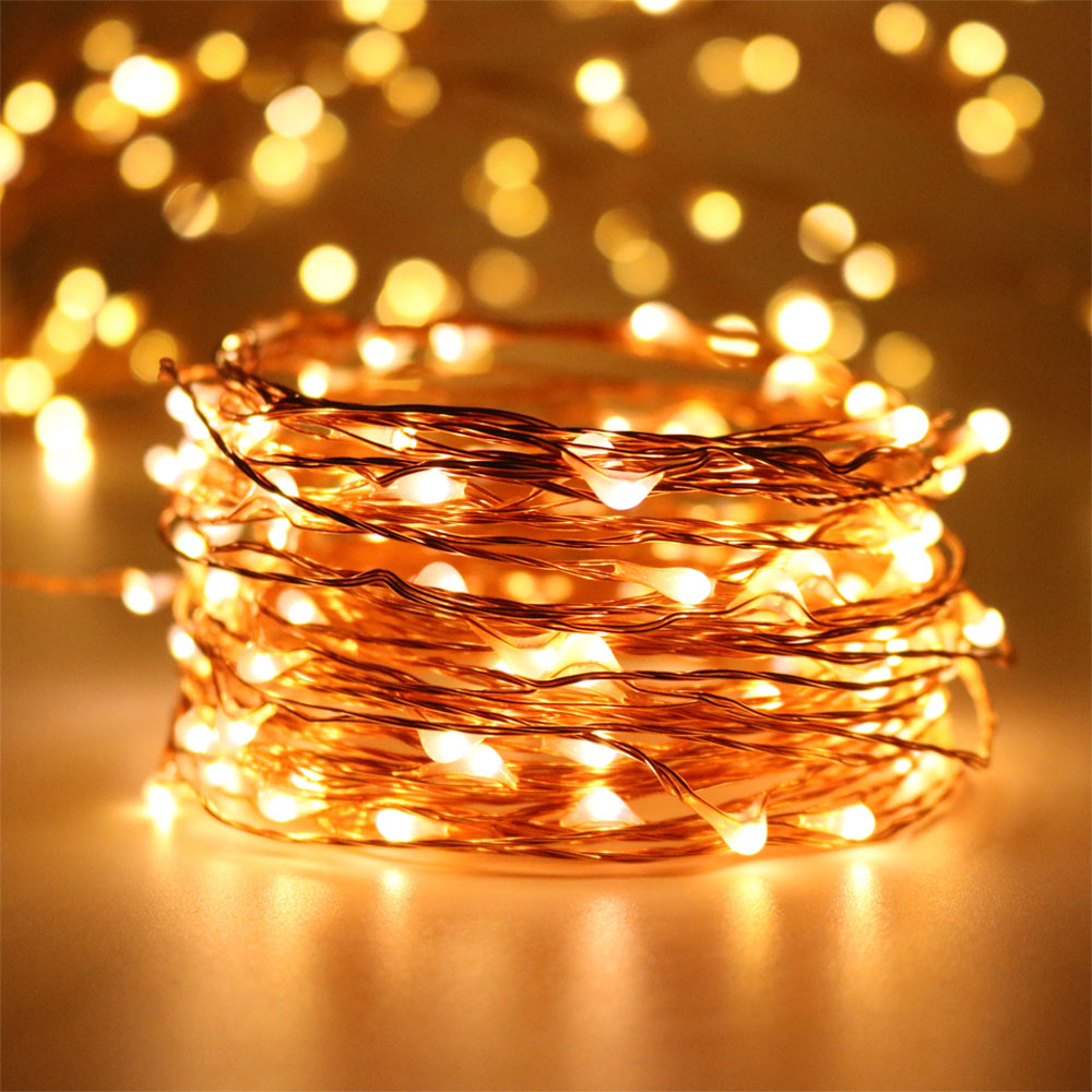 30M 300LED 99ft Long LED Copper Wire Starry String Lights,Outdoor Christmas Fairy Light Warm ...