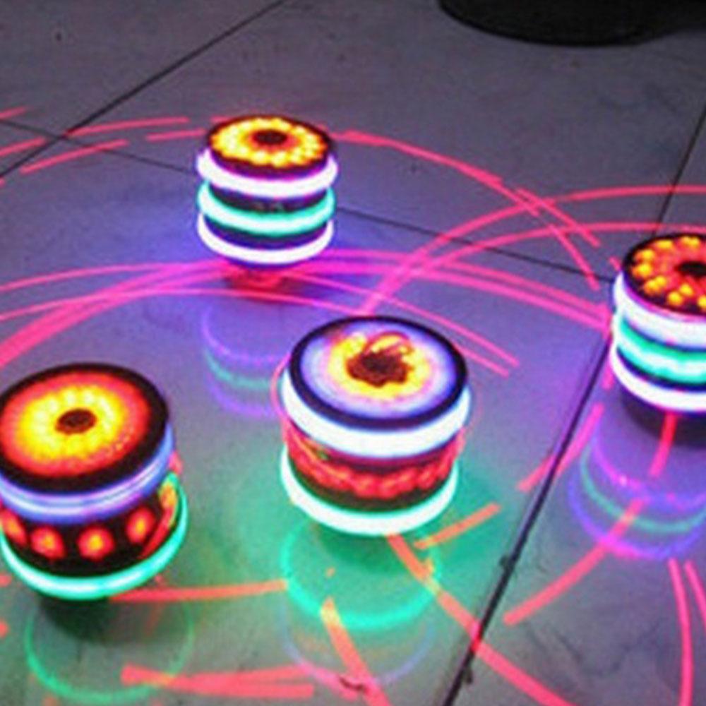 Gyroscope Cool Spinning Light-Emitting Kids Toy Imitation Wood Gaming Fun Gyro