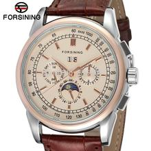 FSG319M3T2 New arrival Automatic men dress wrist watch  with moon phase whole sale promotion price  free shipping with gift box
