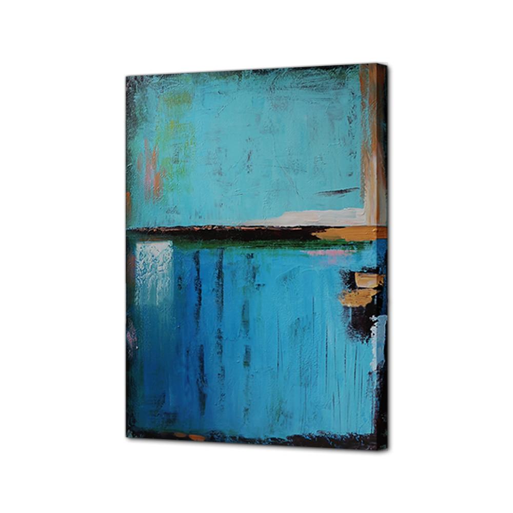 Chinesische Ölgemälde Abstrakte Blaue Leinwand malerei Wandkunst ...
