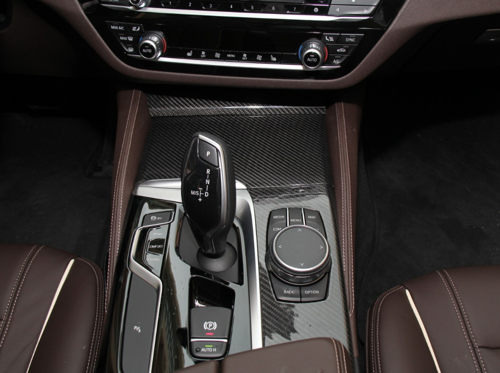 9pcs For BMW 5 Series G30 G38 Left Hand Driving Carbon Fiber Interior Moldings Central Control Panel Trim Door Panel Cover