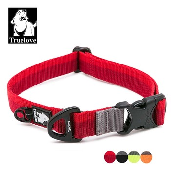 Truelove Nylon Verstelbare Halsbanden Voor Grote Kleine Honden Zachte Huisdier Kraag Voor Honden Outdoor Reizen Wandelen Jogging Hond Accessoires