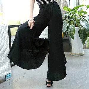Image 2 - Floral Wide Leg Pants Women Clothing Vintage Trousers Print Harem Flare High Waist Loose Runway Casual 2019 Summer Plus Size