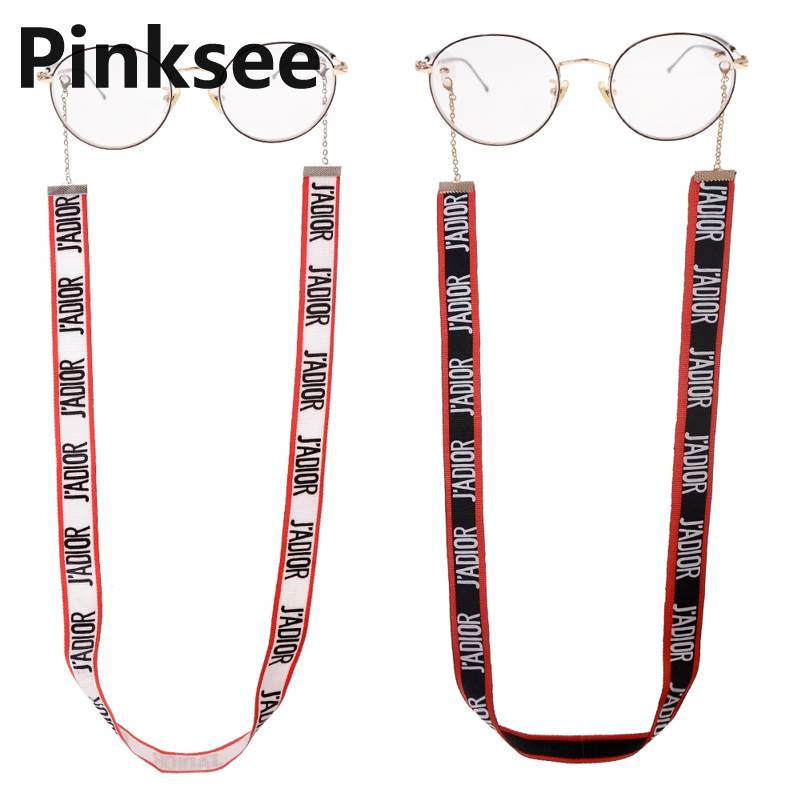 Hot Letters Alphabet Street Beat Sunglasses Lanyard Hanging Neck Chain Fashion Personality Glasses Chain Eyewear Retainer