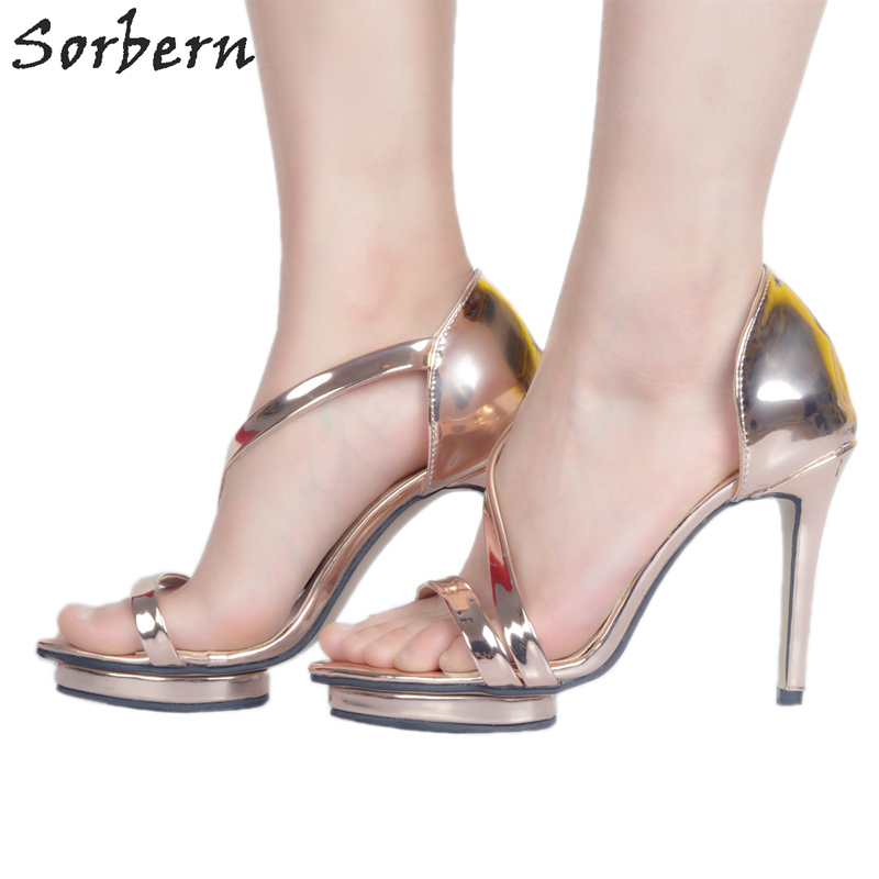 Sorbern Champang Summer Sandals For Women Designer Shoes Women Luxury 2018 Plus Size 34-48 Ladies Sandals Luxury Women Shoes