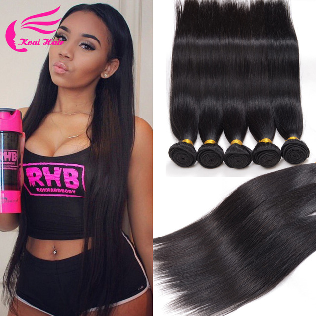 Terrific Aliexpress Com Buy 7A Peruvian Virgin Hair Straight 5 Bundle Hairstyles For Women Draintrainus