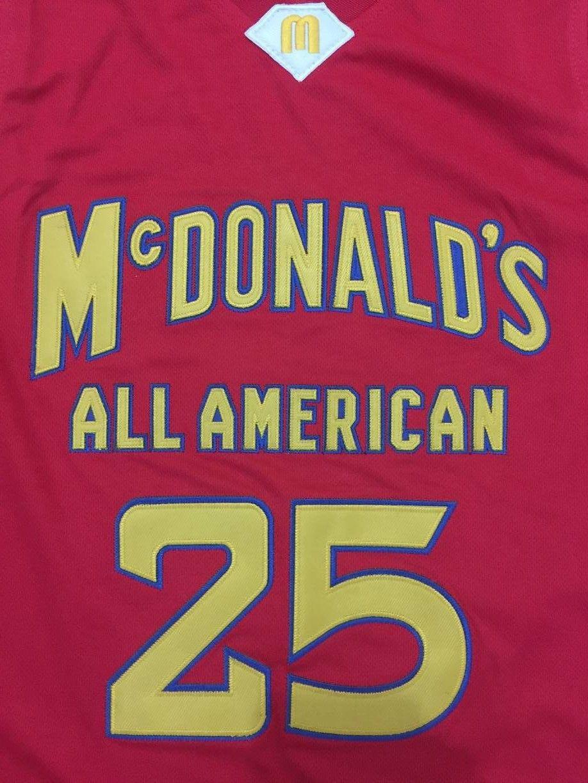 #25 DERRICK ROSE Dolphins McDonald ALL AMERICAN high quality basketball jersey Retro throwback Cheap menswear
